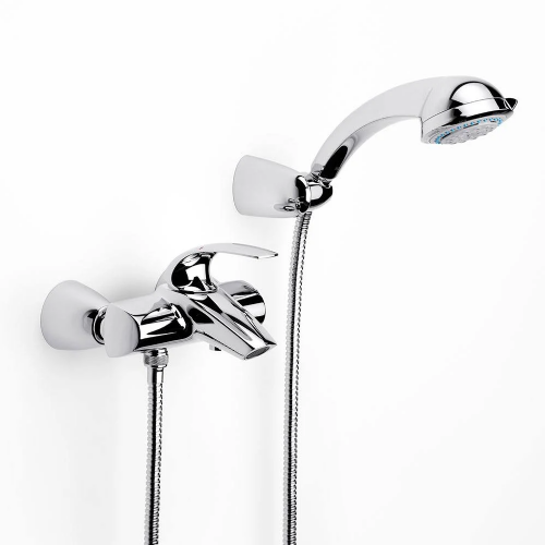 Roca M2-N Wall Mounted Bath Shower Mixer Tap With Kit